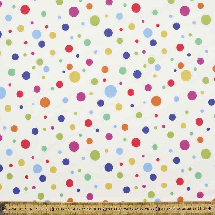 112 cm Spots & Stripes Rainbow Spots Fabric