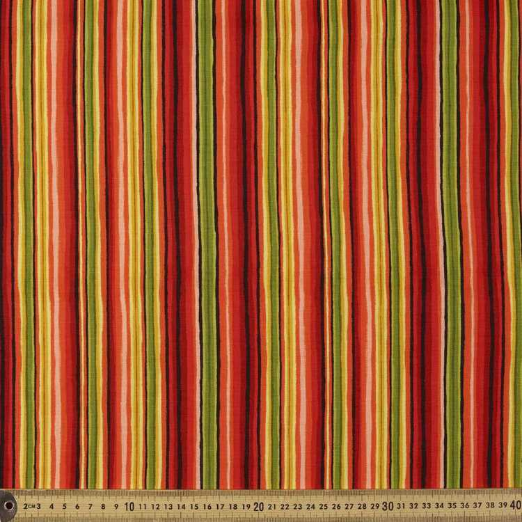 Timeless Treasures Poppies Striped Cotton Fabric
