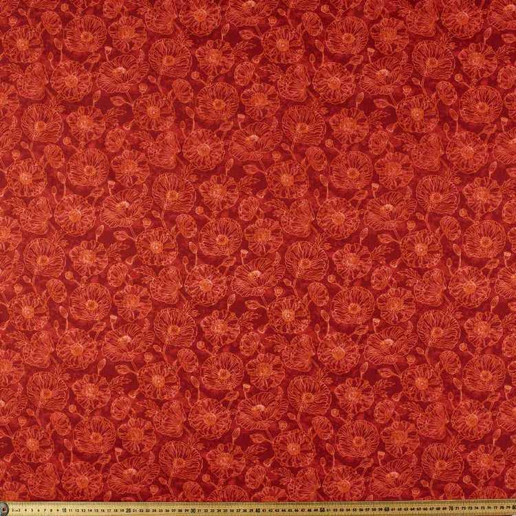 Timeless Treasures Tonal Poppies Cotton Fabric