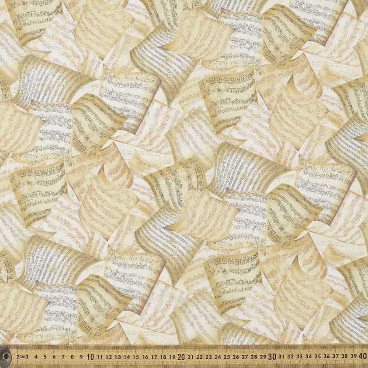Timeless Treasures Music Pages Cotton Fabric