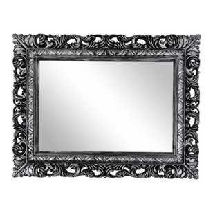 Living Space Carved Rectangular Mirror