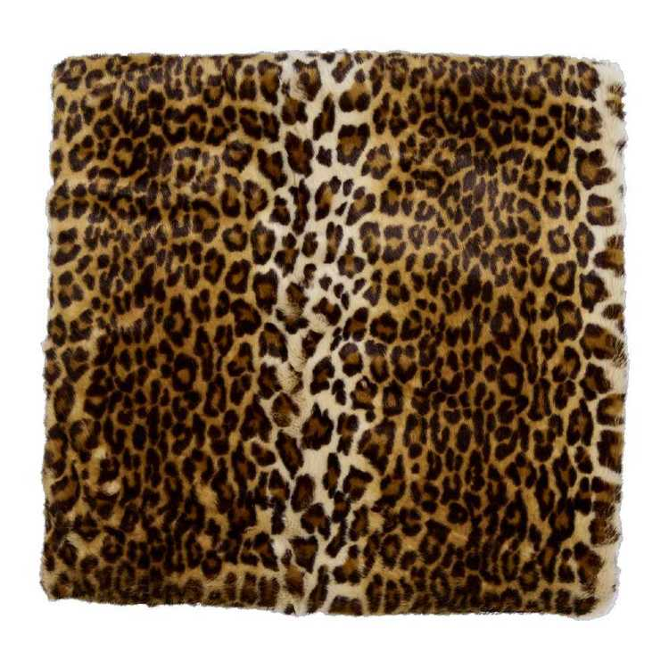 KOO Home Simba Faux Fur Throw Leopard 127 x 152 cm
