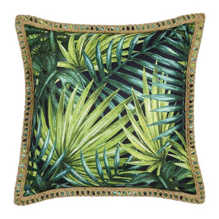 KOO Home Tropics Printed Leaf Cushion