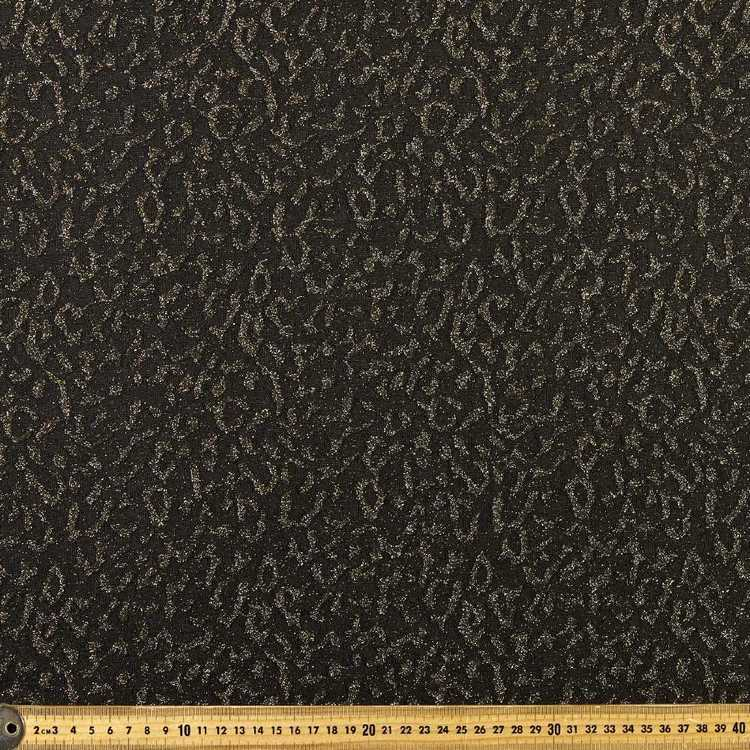 Cheetah Printed 150 cm Lurex Knit Fabric