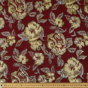 148 cm Big Floral Printed Brocade Fabric