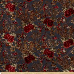 #1 Printed Burnout Velvet Fabric