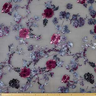 #4 Printed Burnout Velvet Fabric