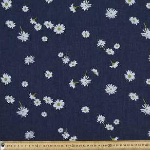 Daisies Printed Denim Fabric