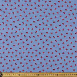 140 cm Lady Beetle Printed Denim Fabric