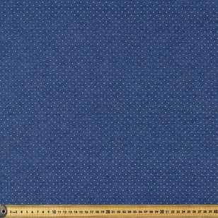 142 cm Metallic Spot Printed Denim Fabric