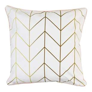 Ombre Home Winter Luxe Metallic Geo Cushion