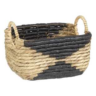 Living Space Two Tone Water Hyacinth Rectangular Basket
