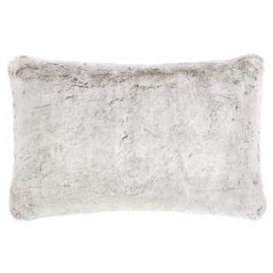 Bouclair Fur Statement Silver Fox Faux Fur Cushion
