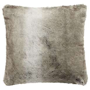 Bouclair Fur Statement Wolf Faux Fur Cushion