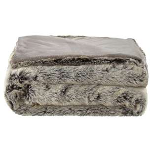 Bouclair Fur Statement Wolf Throw