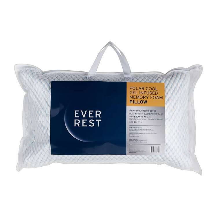 Ever Rest Gel Infused Polar Cool Memory Foam Pillow