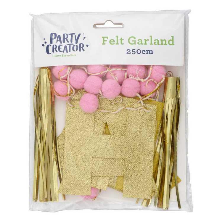 Happy Birthday Felt Garland