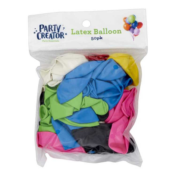 Party Creator Latex Balloons 50 Pack