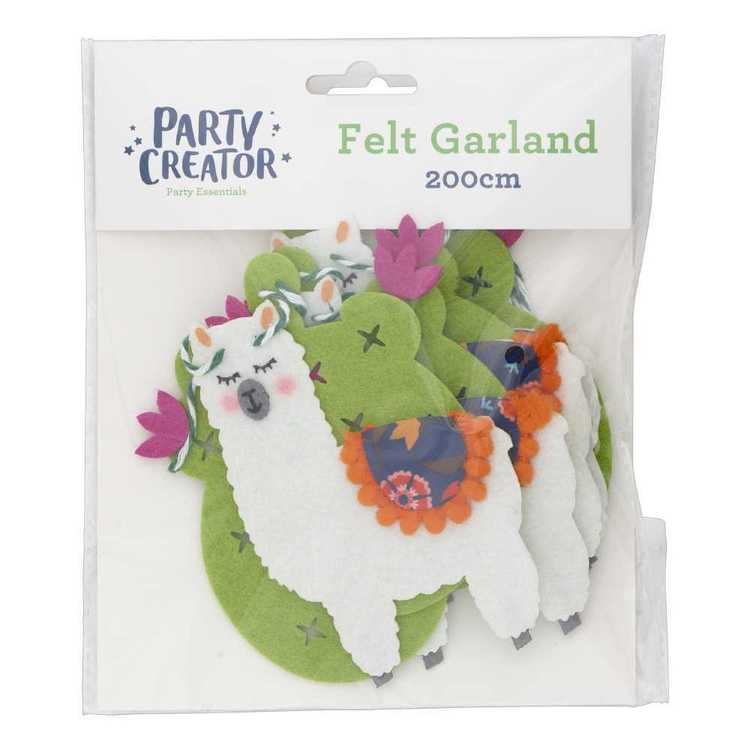 Llama Felt Garland
