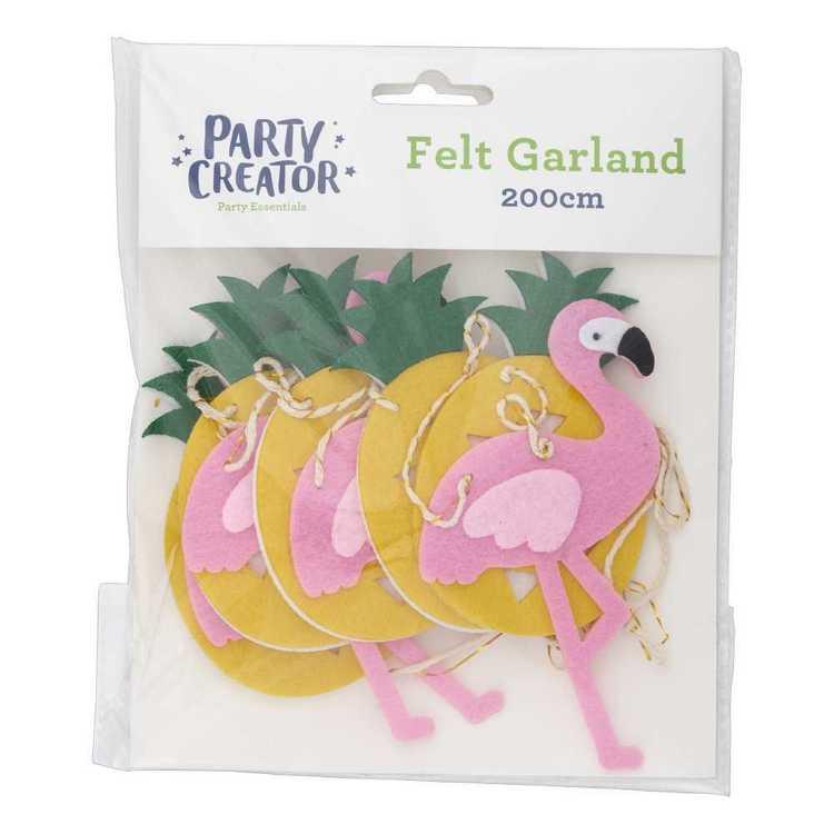 Flamingo And Ananas Felt Garland