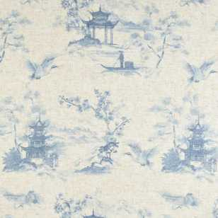 Oriental Toile Sheer Fabric