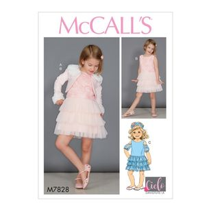 McCall's Pattern M7828 David Tutera Children's / Girls' Bolero and Dresses