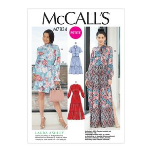 McCall's Pattern M7834 Laura Ashley Misses' / Miss Petite Dresses