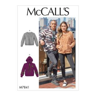 McCall's Pattern M7841 Misses' and Mens Tops