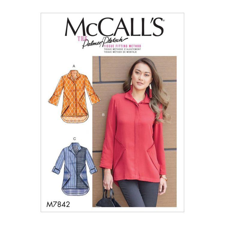 McCall's Pattern M7842 Palmer / Pletsch Misses' Shirts