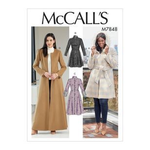 McCall's Pattern M7848 Misses' / Miss Petite and Women's / Women Petite Coats and Belt