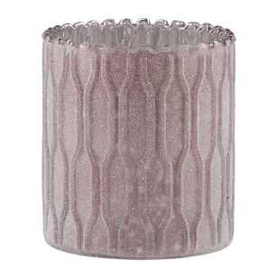 Ombre Home Winter Luxe Glitter Candle Holder