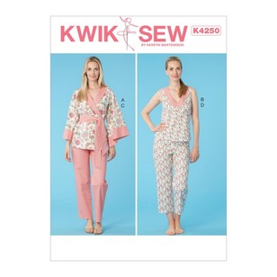 Kwik Sew Pattern K4250 Misses' Jacket, Top And Pants