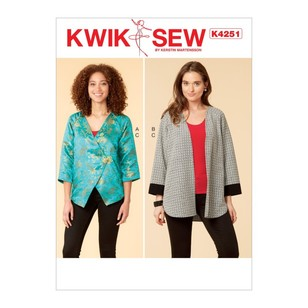 Kwik Sew Pattern K4251 Misses' Jacket And Tank