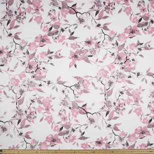 Trellis Printed Sateen Fabric