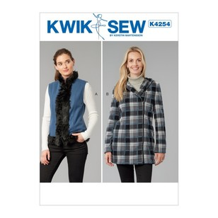 Kwik Sew Pattern K4254 Misses' Vest And Jacket