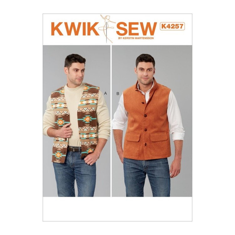Kwik Sew Pattern K4257 Men's Vests