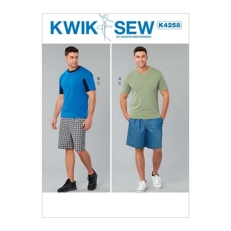 Kwik Sew Pattern K4258 Men's Tops And Shorts
