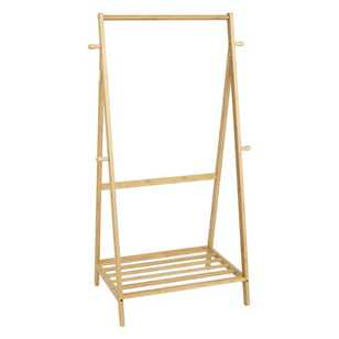 Living Space Bamboo Clothes Rack