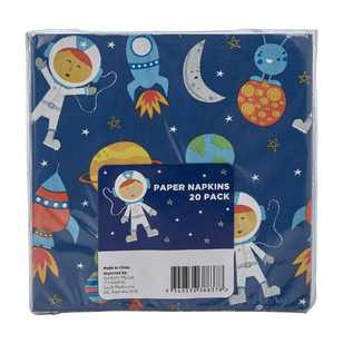 Spaceship Paper Napkin 20 Pack