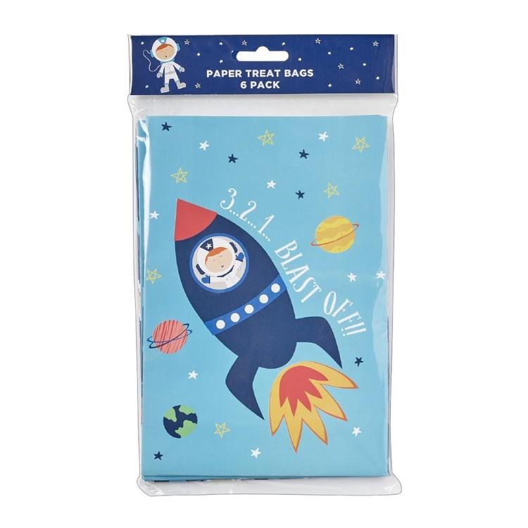 Spaceship Paper Treat Bag 6 Pack