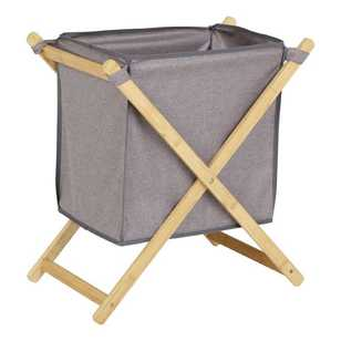 Living Space Bamboo Folded Laundry Hamper