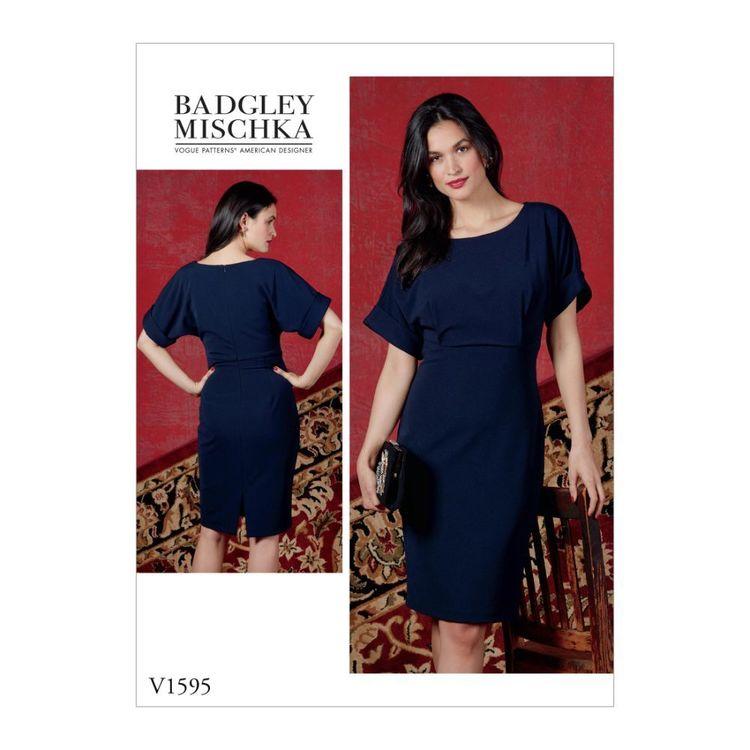 Vogue Pattern V1595 Badgley Mischka Platinum Misses' Dress