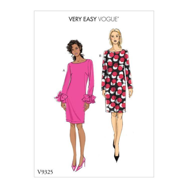 Vogue Pattern V9325 Very Easy Vogue Misses' Dress