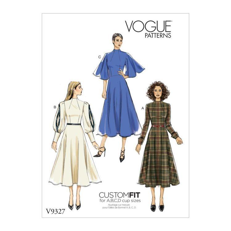 Vogue Pattern V9327 Custom Fit Misses' Dress