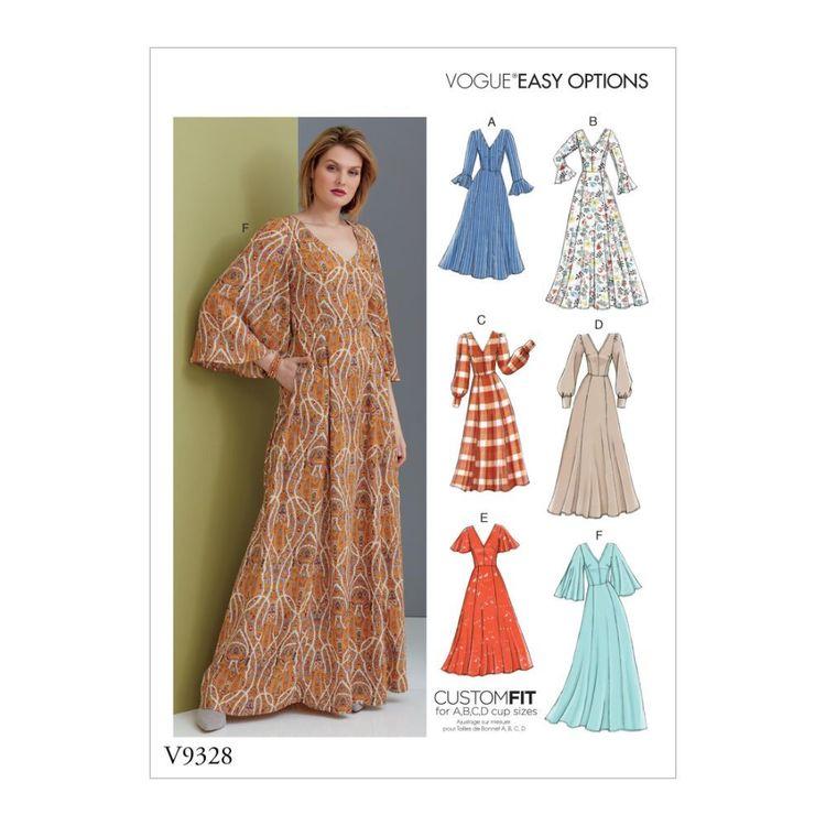 Vogue Pattern V9328 Easy Options Custom Fit Misses' Dress