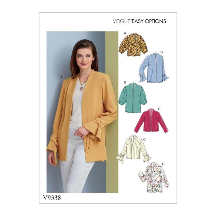 Vogue Pattern V9338 Easy Options Misses' Jacket
