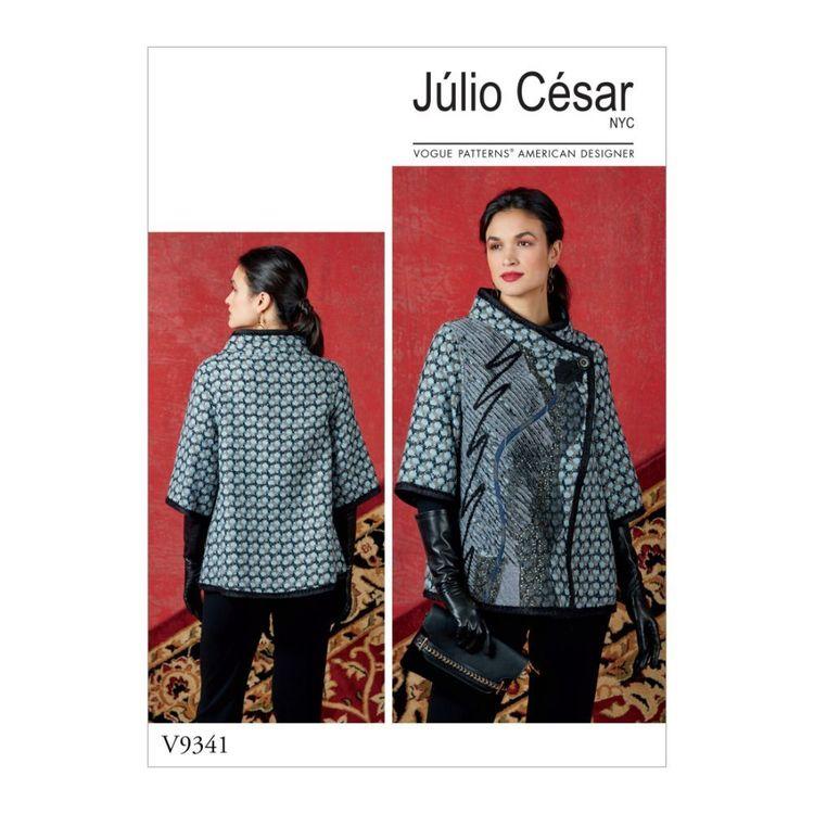 Vogue Pattern V9341 Julio Cesar Misses' Jacket