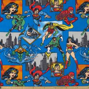 Super Friends Fleece Fabric