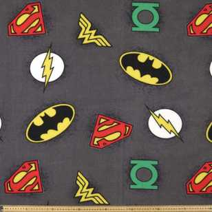DC Logos Fleece Fabric