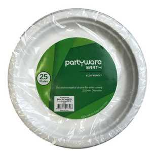 Partyware Earth Sugar Cane Plate 25 Pack